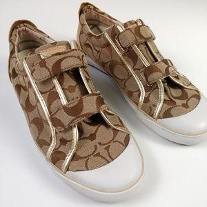 Coach women's tennis shoes size 9B